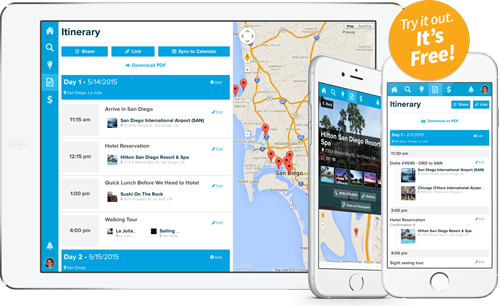 Travefy Makes It Easy To Create Trip Plans And Build Itineraries From Any Computer Or Mobile Device Start Your Itinerary