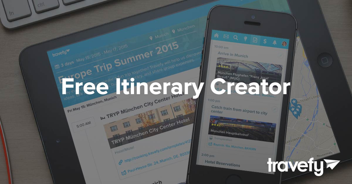 itinerary creator free travefy