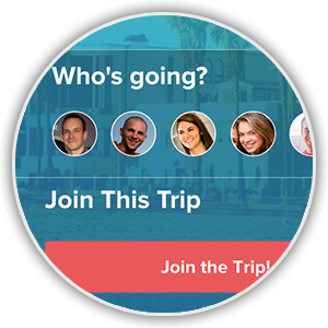 Share your trip plans with large groups via the Trip Invitation Page