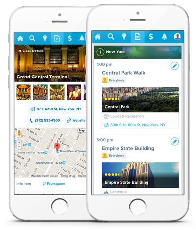 Free Mobile Travel Itinerary Builder - Trip Planner Scheduler